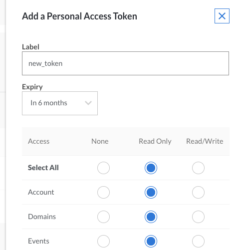 Add a Personal Access Token