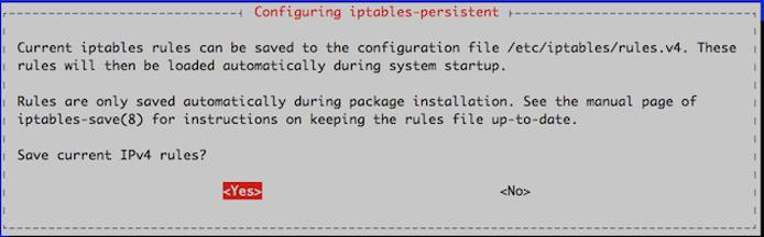 Save IPv4 rules prompt.