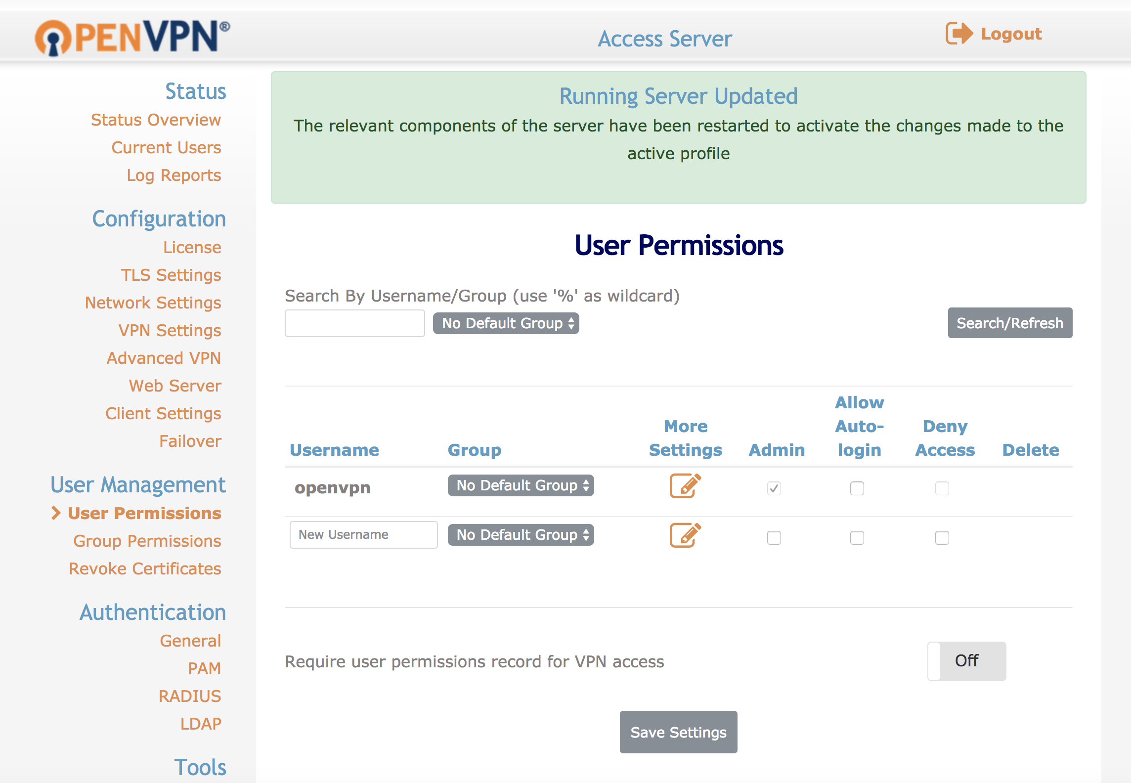 Manage Openvpn With Openvpn Access Server Linode